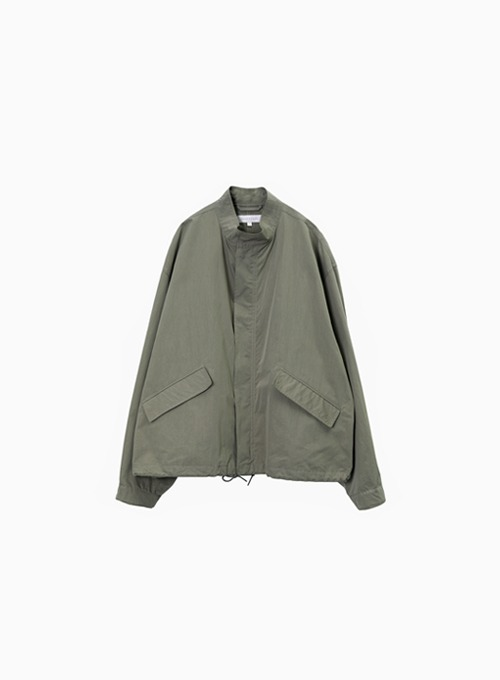 ESSENTIAL SHORT JACKET (OLIVE GREY)