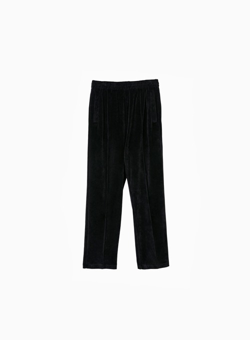 VELOUR TRACK PANTS (BLACK)