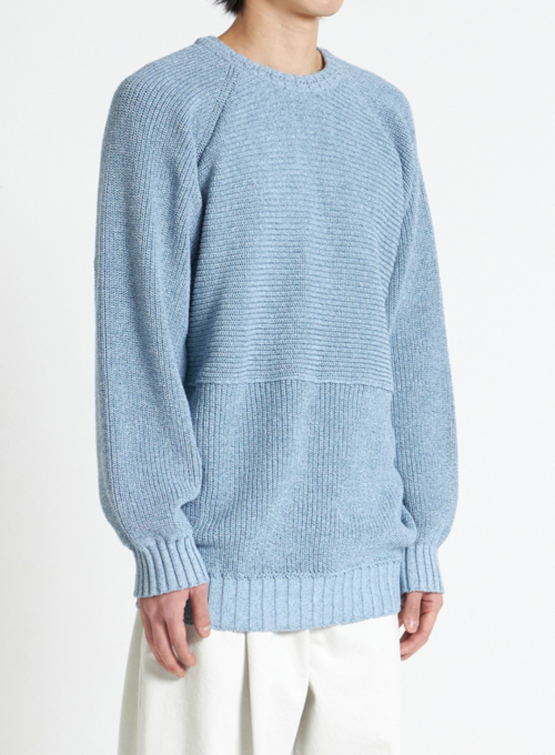 STRUCTURED KNIT (PALE BLUE)