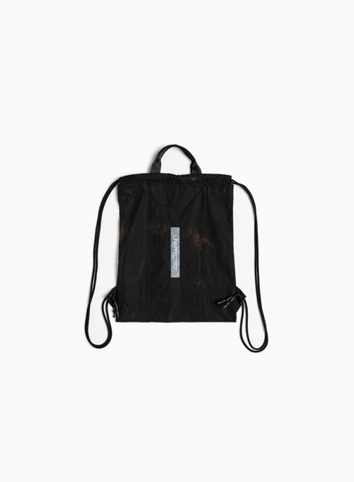 LOGO LABEL GYM SACK (MAGMA BLACK)
