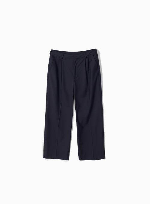 WIDE SILHOUETTE TROUSER (NAVY)