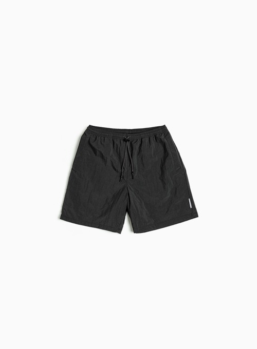 LOGO LABEL SWIM SHORTS (CHARCOAL)
