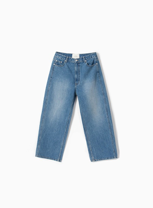 WIDE DENIM PANTS (WASHED)