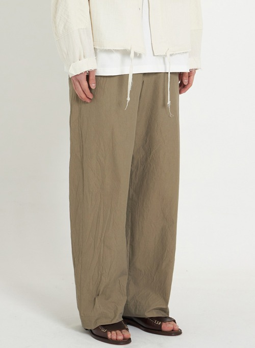 CREASE WIDE PANTS (KHAKI CREASE)