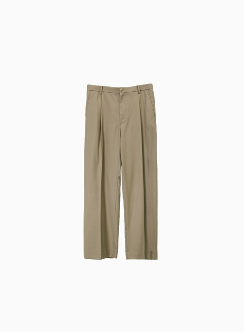 WIDE PANTS (KHAKI)